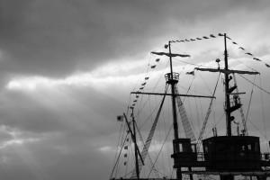 北港の遊覧船サンタマリア号